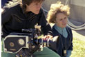L-R: Director of Photography Laurie McInnes with Director/Writer Jane Campion, on location.