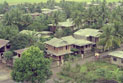 Aerial view of a Filipino village.