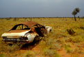 Abandoned vehicle left in the outback.